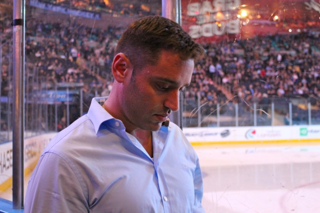 """ken sundheim at Rangers game MSG 2012"""